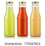 bottles of  juice isolated on... | Shutterstock . vector #774267811