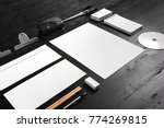 portrait of stationary mock up... | Shutterstock . vector #774269815