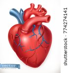human heart. medicine  internal ... | Shutterstock .eps vector #774274141
