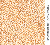 orange carrot seamless pattern. ... | Shutterstock .eps vector #774279367