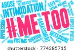 me too word cloud on a white... | Shutterstock .eps vector #774285715