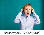 handsome little stylish boy in... | Shutterstock . vector #774288835