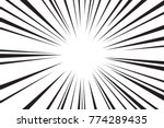 abstract comic speed radial... | Shutterstock .eps vector #774289435