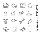 sewing related icons  thin... | Shutterstock .eps vector #774289711