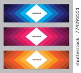 modern web banner with colorful ...