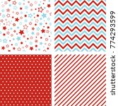 seamless patterns. set of... | Shutterstock . vector #774293599
