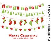 christmas greeting card with... | Shutterstock . vector #774293611