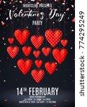 happy valentine's day dark... | Shutterstock .eps vector #774295249
