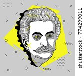 creative modern portrait of... | Shutterstock .eps vector #774299011
