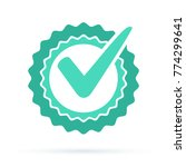 green approved star sticker... | Shutterstock .eps vector #774299641