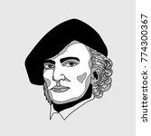 wilhelm richard wagner. vector... | Shutterstock .eps vector #774300367