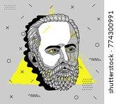 creative modern portrait of... | Shutterstock .eps vector #774300991