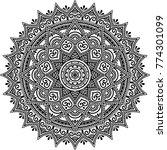 mandala pattern black and white ... | Shutterstock .eps vector #774301099