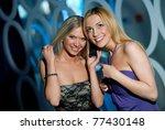 two attractive girl friends... | Shutterstock . vector #77430148