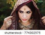 portrait of beautiful indian... | Shutterstock . vector #774302575
