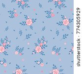 fashionable pattern in small... | Shutterstock . vector #774305929