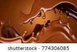 brown chocolate splash...   Shutterstock . vector #774306085