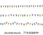 christmas glowing lights on... | Shutterstock .eps vector #774308899