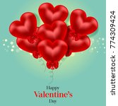 valentine's day card with heart | Shutterstock . vector #774309424