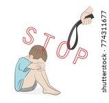 stop violence against children...   Shutterstock .eps vector #774311677