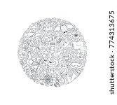 unique conceptual handdrawn... | Shutterstock .eps vector #774313675