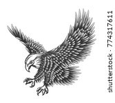 flying eagle emblem drawn in... | Shutterstock .eps vector #774317611