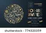 new year party invitation for... | Shutterstock .eps vector #774320359