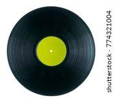 black dj vinyl record plate for ... | Shutterstock . vector #774321004