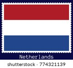 vector postage stamp of a... | Shutterstock .eps vector #774321139