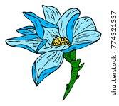 flower peony illustration.... | Shutterstock . vector #774321337