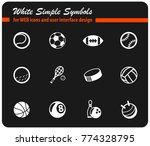 sport balls vector icons for... | Shutterstock .eps vector #774328795