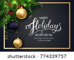 holidays greeting card for... | Shutterstock .eps vector #774339757