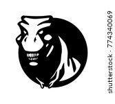 t rex dinosaur logo vector... | Shutterstock .eps vector #774340069