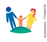 happy family icon multicolored... | Shutterstock .eps vector #774340735