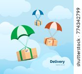 delivery services and commerce. ...   Shutterstock .eps vector #774342799