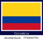 vector postage stamp of a... | Shutterstock .eps vector #774344791