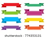 colorful set of ribbons. vector ... | Shutterstock .eps vector #774353131