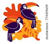 toucan bird cartoon character | Shutterstock .eps vector #774359659