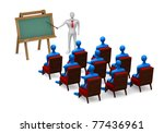 group of students and teacher... | Shutterstock . vector #77436961