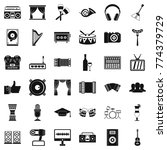 karaoke icons set. simple style ... | Shutterstock .eps vector #774379729
