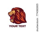 roaring lion logo | Shutterstock .eps vector #774383005
