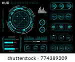 hud elements pack. vector art. | Shutterstock .eps vector #774389209