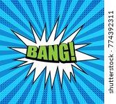 bright comic green bang wording ... | Shutterstock .eps vector #774392311