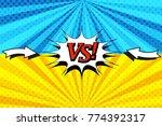 comic book versus horizontal...   Shutterstock .eps vector #774392317