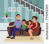 vector illustration happy... | Shutterstock .eps vector #774392365