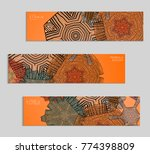 ethnic banners template with... | Shutterstock .eps vector #774398809