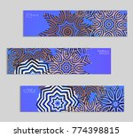 ethnic banners template with... | Shutterstock .eps vector #774398815