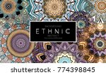 ethnic banners template with... | Shutterstock .eps vector #774398845