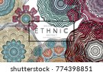 ethnic banners template with... | Shutterstock .eps vector #774398851