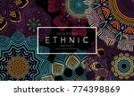 ethnic banners template with... | Shutterstock .eps vector #774398869